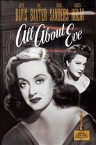All About Eve (1950). Starring: Bette Davis, Anne Baxter, Celeste Holm, George Sanders, Thelma Ritter and Marilyn Monroe