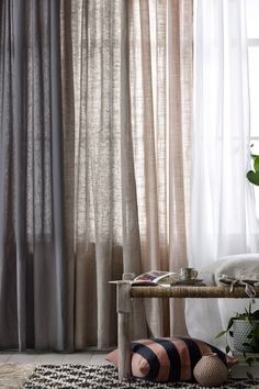 Home Remodel Porch Cortinas.Home Remodel Porch Cortinas Sheer Linen Curtains, Home Curtains, Curtains Living, Curtains With Blinds, Velvet Drapes, Ceiling Curtains, Curtain Room, Small Living Rooms, Living Room Designs