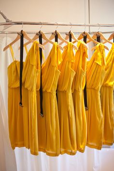 Sunny yellow bridesmaid's dresses ;) Photography by krissyallori.com