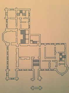 First Floor Plan of Castle Ireland early 19th Century