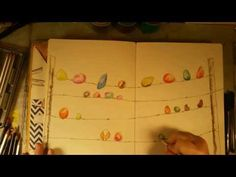 2015.01 Colorwheel Art Journal Page - YouTube
