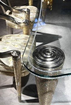 FACETED SWAROVSKI CRYSTALS SHOWCASED ON LUXURY FURNITURE  010715