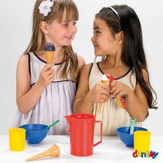 Juego de helados - 3 servicios DANTOY - Ref. 014214 Juego de helados para 3 personas. Medidas: 20 cm