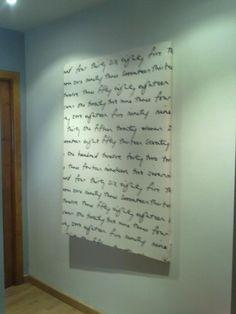x4duros.com: Un cuadro con tela de ikea