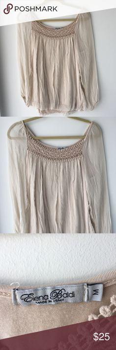 87faeab8550ea I just added this listing on Poshmark  Elena Baldi silk top Italy crochet  lace sheer