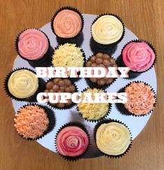 Birthday Cupcakes, Mini Cupcakes, Types Of Patterns, Diy Letters, All You Need Is, Helpful Hints, How To Find Out, My Design, Birthdays