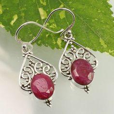 Mughal Gems /& Jewellery Silver 925 Sterling Earrings Stud Women Earrings Natural Yellow Citrine Stone Earring for Ladies