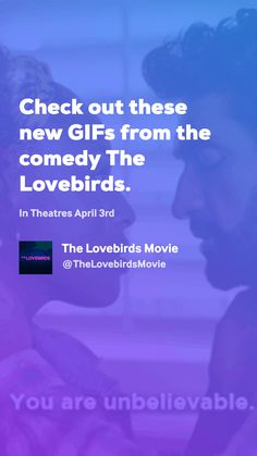 Haven't seen the trailer yet? We got the GIFs! Coming To Theaters, Movie Gifs, Love Birds, Comedy, News, Movies, Films, Cinema, Comedy Theater