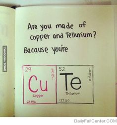 This would be a cute Valentine's Day card for kids once they hit the age/grade when they are learning the periodic table.