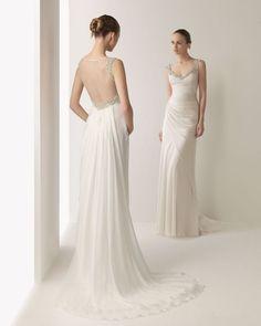 robe de mariée fluide dos nu en tulle