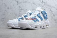 fedca95ddf0b Custom Louis Vuitton x Supreme x Nike Air More Uptempo Denim Blue