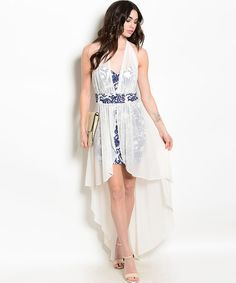Wholesale lot of 5. Ivory/Navy dress. shorten back, replace shirt with shorts. Espace Artist? 12.50 each