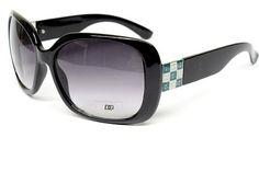 ($9.95) Dg Eyewear Oversized Vintage Retro Fashion Sunglasses Womens Black Green D774 From DG Eyewear