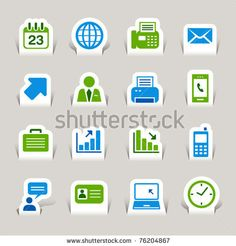 Paper Cut - Office and Business icons by justone, via ShutterStock