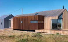 Pobble House Three simple forms – clad in larch, Corten steel and cement, respectively – define the house's volumes and add character