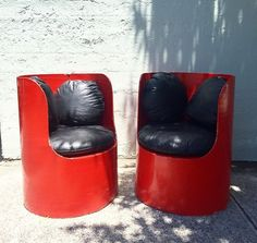 Retro Pop Art Cylindrical 1960s Tall Armchairs Vintage Mickey Mouse Inspired | eBay
