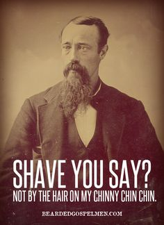 shave you say?