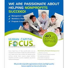 Design an Ad for a consulting group by Knorpics