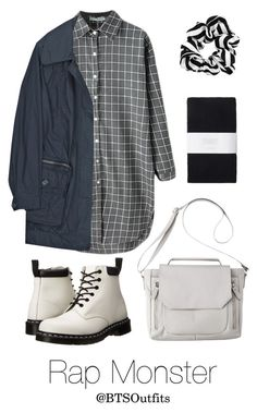 """Theater with Rap Monster"" by btsoutfits ❤ liked on Polyvore featuring Dr. Martens, Burberry, Mossimo and Toast"
