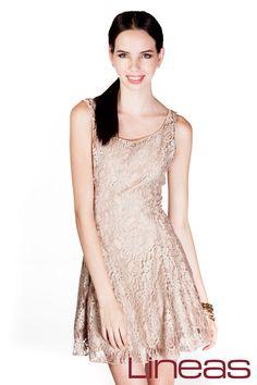 Vestido, Modelo 19426. Precio $350 MXN #Lineas #outfit #moda #tendencias #2014 #ropa #prendas #estilo #primavera #outfit #vestido