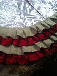 Done Over Decor: Ruffle Tree Skirt