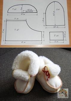 1 million+ Stunning Free Images to Use Anywhere Doll Shoe Patterns, Baby Shoes Pattern, Sewing Patterns, Baby Sewing Projects, Sewing For Kids, Sewing Slippers, Baby Kostüm, Sewing Dolls, Baby Boots