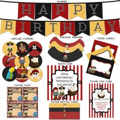 Pirates Birthday Printable Package - Pirate Birthday - Little Buccaneer. $20.00, via Etsy.