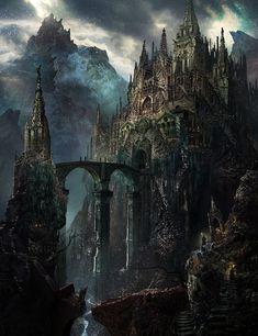 ArtStation The Dragon s Cathedral TSUTOMU KITAZAWA in 2020 Fantasy landscape Fantasy city Fantasy castle