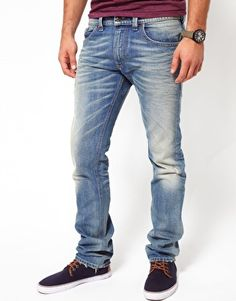 Enlarge Diesel Jeans Thavar Slim Fit 0806P Light Wash