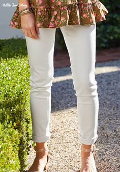 MJ Sweet Caroline White Denim Jeans - 12 on Mercari White Denim Jeans, Matilda Jane, Swim Bottoms, Blue Tops, Spring Summer Fashion, Summer Outfits, Capri Pants, Sweet Caroline, Clothes
