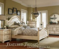 French Country Bedroom Cau Set White King Size Sets Rustic