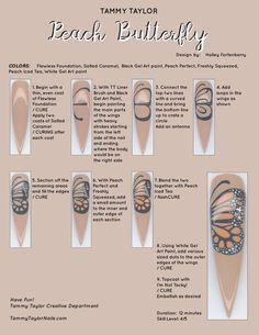 Nail Tip Designs, Nail Art Designs Videos, Acrylic Nail Designs, Diy Acrylic Nails, Diy Nails, Polygel Nails, Nail Art Hacks, Nail Art Diy, Nail Painting Tips