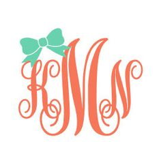 Bow Monogram Car Decal Sticker by houseofminedesigns on Etsy https://www.etsy.com/listing/214843021/bow-monogram-car-decal-sticker