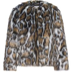 MOSCHINO Shorty Leo // Fake fur jacket (€669) ❤ liked on Polyvore featuring outerwear, jackets, cropped jacket, moschino, short jacket, slim fit jackets and faux fur cropped jacket