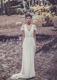 Robe Visconti http://www.bridaydress.com/lds-robe-visconti-a-line-lace-chiffon-fabric-v-neck-neckline-cap-sleeves-wedding-dress.html