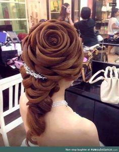 Rose hair-do