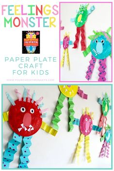 SAD MONSTER, GLAD MONSTER: Feelings Activities and Craft Ideas for Children - four cheeky monkeys