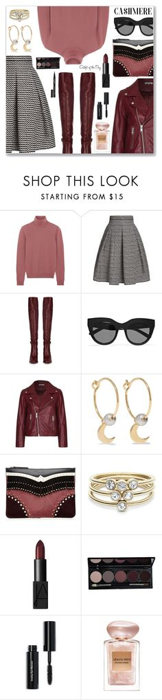 Cozy Cashmere Sweaters by dressedbyrose on Polyvore featuring Bottega Veneta, Ganni, Rumour London, Chloé, Etro, IaM by Ileana Makri, FOSSIL, Le Specs, Bobbi Brown Cosmetics and NARS Cosmetics  #cashmere #sweaterweather #chic #leather #leatherjacket #polyvore #polyvoreeditorial #StreetStyle #Autumncolors #autumnstyle #turtleneck #ootd #dailylook #GetTheLook #Bordeaux #60secondstyle #outfit