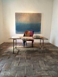 Vincent Van Duysen, Balloon Clouds, Wabi Sabi, Outdoor Furniture, Outdoor Decor, Minimalism, Dining Table, Flooring, Architecture
