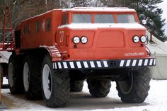 """ZIL-E-167 is an off-road truck. 1960's. """" Designed to withstand difficult conditions in Siberia, Urals and far east and northern territories of the Soviet Union. Able to cross water and it is able to..."""