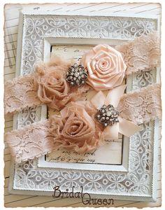 Lace Wedding Garter Set Bridal garter Set Vintage by BridalQueen
