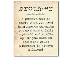 Bruder-Geschenk Wall Art A Bruder ist von SusanNewberryDesigns