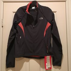 NWT North Face Jacket and Vest! Never worn! North Face flight series jacket. Sleeves zip off to become a vest! Lots of pockets. Seriously a magic jacket! Dark grey slate color with salmon pink accents. The North Face Jackets & Coats Vests
