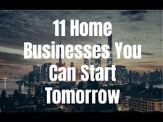 11 home businesses you can start tomorrow. Visit http://ift.tt/1ltodHp for video notes related content and helpful resources mentioned.  Let's Connect! Twitter - https://twitter.com/MrJustinBryant  Facebook - http://ift.tt/1LQomnx  Google - http://ift.tt/1PaQTrN  In this video you I will show you 11 home business you can start as soon as tomorrow. Starting a business can be extremely time-consuming and costly in many cases. Luckily that doesn't always have to be the case. I'll show you the…