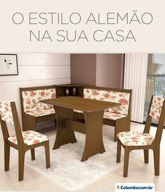 O Kit Alemão tem estampa floral e transmite conforto em uma única peça: http://www.colombo.com.br/produto/Moveis/Kit-Canto-Alemao-com-2-Cadeiras-e-Mesa-Sonetto-Estrelato?utm_source=Pinterest&utm_medium=Post&utm_content=Kit-Canto-Alemao-com-2-Cadeiras-e-Mesa-Sonetto-Estrelato&utm_campaign=Produto-17jun14