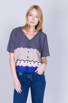 'Hamada' fine printed blouse by Swedish designer brand Rodebjer︱www.grandpa.se︱ Scandinavian fashion and home decor︱ Shipping to Europe and the US