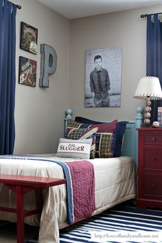 Boys Shared Industrial Sports Themed Bedroom