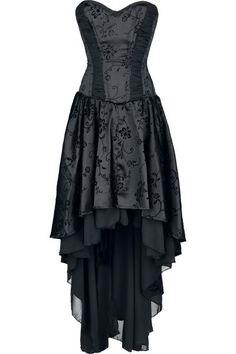 #Abito con corsetto di #Burleska, stampa flock, cerniera laterale, fodera 100% cotone e lacci stringivita sul retro. #Malefica