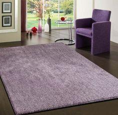 2 Tone Lavender Long Soft Durable Shag Area Rug