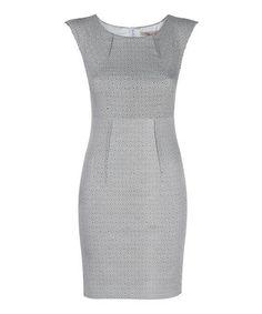 Look what I found on #zulily! White & Black Diamond Lilly Sheath Dress #zulilyfinds
